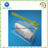 La bolsa de plástico clara del bloqueo del cierre relámpago de la diapositiva del PVC (jp-plastic063)
