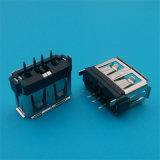 O plástico preto e branco 2.0 corpo curto 180 graus do conector USB