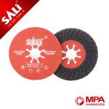 高品質の折り返しの紙やすりで磨く車輪のカーボランダムのファイバーディスク研摩剤