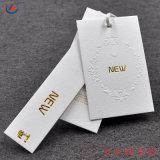 Folha de ouro de melhor qualidade vestido de papel com relevo a etiqueta de Giro