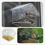 Casa fixada na parede do pássaro do indicador acrílico do plexiglás para Amason