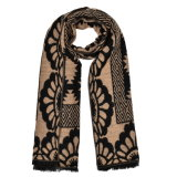 Кашемир 180*65cm женщин реверзибельный как шарф шали хода зимы теплый связанный сплетенный (SP256)