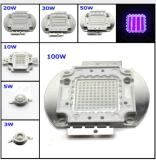 20W LED ultravioleta de alta potencia 365nm 370nm 380nm 385nm 390nm 395nm 400nm 405nm 410nm 415nm 420nm 430nm