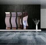 Langwelle-geformter silberner Spiegel für HauptDeco