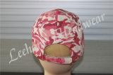 Neue rosafarbene Camo Sport-Ära-Stickerei-Schutzkappe