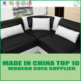 居間の家具の木の本革のソファーベッド