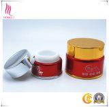 Vaso cosmetico di ceramica di alluminio viola per la crema del siero