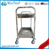 Chariot à nourriture de portion de restauration d'acier inoxydable