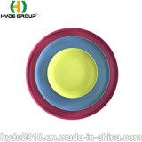 Livre de BPA biodegradáveis recipiente de alimentos saudáveis Composable qualquer placa de fibra de bambu de cor