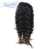 100% волос человека кривой кружева Wig Wig глубокую
