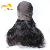 Aliminaの大きい品質のバージンの人間の毛髪の完全なレースのかつら