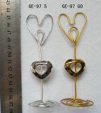 Decoração da disposição do casamento da preensão de Namecard do grampo do coração