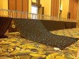 Rashaの工場は2m*3mをカスタマイズするRGB 3in1 SMD5050 LEDの星のカーテンDJが結婚式の背景のための布のディスコブースを主演する