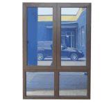 Diseño de aluminio de la ventana del marco de la opinión grande de la ventilación para la venta