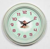 Decorazione rotonda nera afflitta del metallo & di legno di parete dell'orologio dell'oggetto d'antiquariato della casa