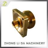 Adaptador fazendo à máquina de bronze do bronze das peças