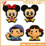 Imanes suaves del refrigerador del PVC de la insignia de encargo para los regalos de la promoción de la Navidad (YB-FM-99)
