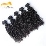 Extensão natural do cabelo da onda do corpo da extensão do cabelo de 100 brasileiros