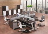 Moderne Melamine 4 de Verdeling van het Werkstation van het Vernisje van Zetels voor Bureau