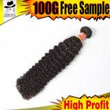 100% необработанные серого цвета волос человека Бразилии плетение