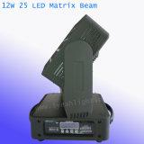 5*5 Matrice de pixels 12W déplacement du faisceaux de lumière LED tête