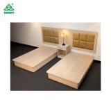 Duas camas de madeira sólida quarto móveis para hotéis com noite