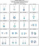 한국 작풍 단순한 설계 파란 단백석 & AAA CZ 귀걸이 최신 판매 925 은 Feshion 보석 (557505034835)