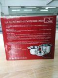 4 PCS Conjunto do Potenciômetro de massas em aço inoxidável com rack de panela a vapor e massas Pot