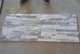 Элегантный светло-серый Quartzite культуры уступа камня для использования внутри помещений на стену,