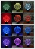 Le football &#160 ; /Soccer /Bascketball, lumière de la nuit 3D avec le commutateur de contact ou le commutateur de bouton