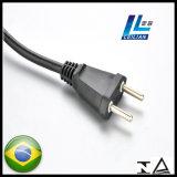 Brasilien-genehmigte Standardenergien-Extensions-Netzkabel-Stecker mit TUV