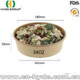 テイクアウェイ32のOzの野菜またはフルーツのためのふたが付いているペーパーサラダボール