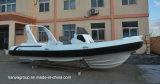 Da fibra de vidro inflável rígida dos barcos da casca de Liya 24.6feet barcos infláveis do reforço