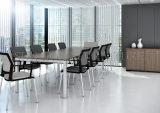 Конторской мебели меламина прямоугольный стол с алюминиевой рамкой (SZ-MTT081)