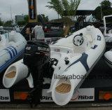 Liya 3,8 millones de bote de goma de fibra de vidrio con motor de barco Rib