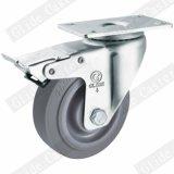 Charges moyennes TPR Roulement double roue pivotante avec frein supérieur (gris) G3302