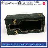 Коробка подарка вина пакета изготовленный на заказ твердого картона одиночная