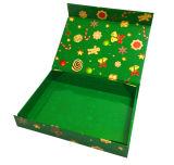 Rectángulo de empaquetado de papel magnético del rectángulo de regalo del encierro para la Navidad