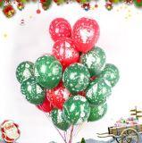 De vrolijke Ballons van het Latex van Kerstmis de Ballons van 10 Duim voor Ballons van de Decoratie van Kerstmis van het Festival van de Partij van de Verjaardag van het Huwelijk de Rode en Groene, Pak 100PCS