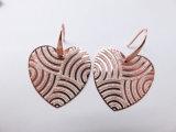인도 작풍 구리 숙녀를 위한 심혼 모양 큰 심혼을%s 가진 금관 악기 하락 귀걸이