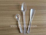 Colher longa plástica descartável do gelado do punho (LY-H035)