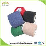 Protetor da segurança dos esportes da venda por atacado atadura coesiva do algodão de 5cm x de 4.5m