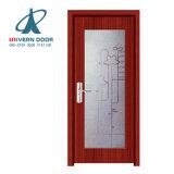 現代贅沢で白いシンプルな設計の内部の固体インドネシア木ドア