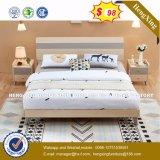 Bisini люкс с одной спальней и высокого уровня мебель отражает деревянные кровати (HX-8NR0843)
