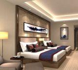 단순한 설계 현대 현대 가죽 뒤 브라운 침실 가구