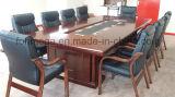 10 personas de la Oficina clásicos de madera Mesa con sillas
