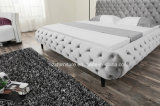 شسترفيلد حديثة غرفة نوم أثاث لازم ليّنة جلد تخزين سرير