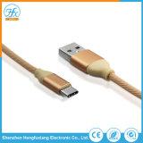 携帯電話のアクセサリ1mの長さのタイプCからUSBのコネクターの充満ケーブル