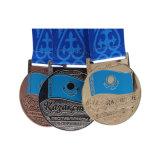 Equipaje de Esmalte Duro rectángulo de la medalla de metal con cinta corta