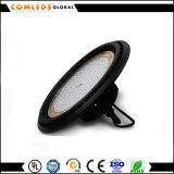 85-265V bon compartiment élevé d'UFO DEL de qualité de l'aluminium 80lm/W pour l'entrepôt